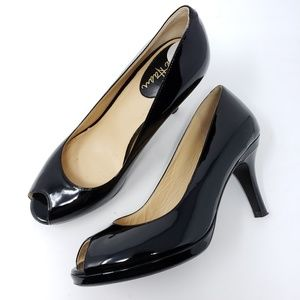 Cole Haan Patent Leather Heels Nike Air Sole Peep